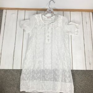 Johnny Was Sheer Eyelet Tunic Top or Dress Size S